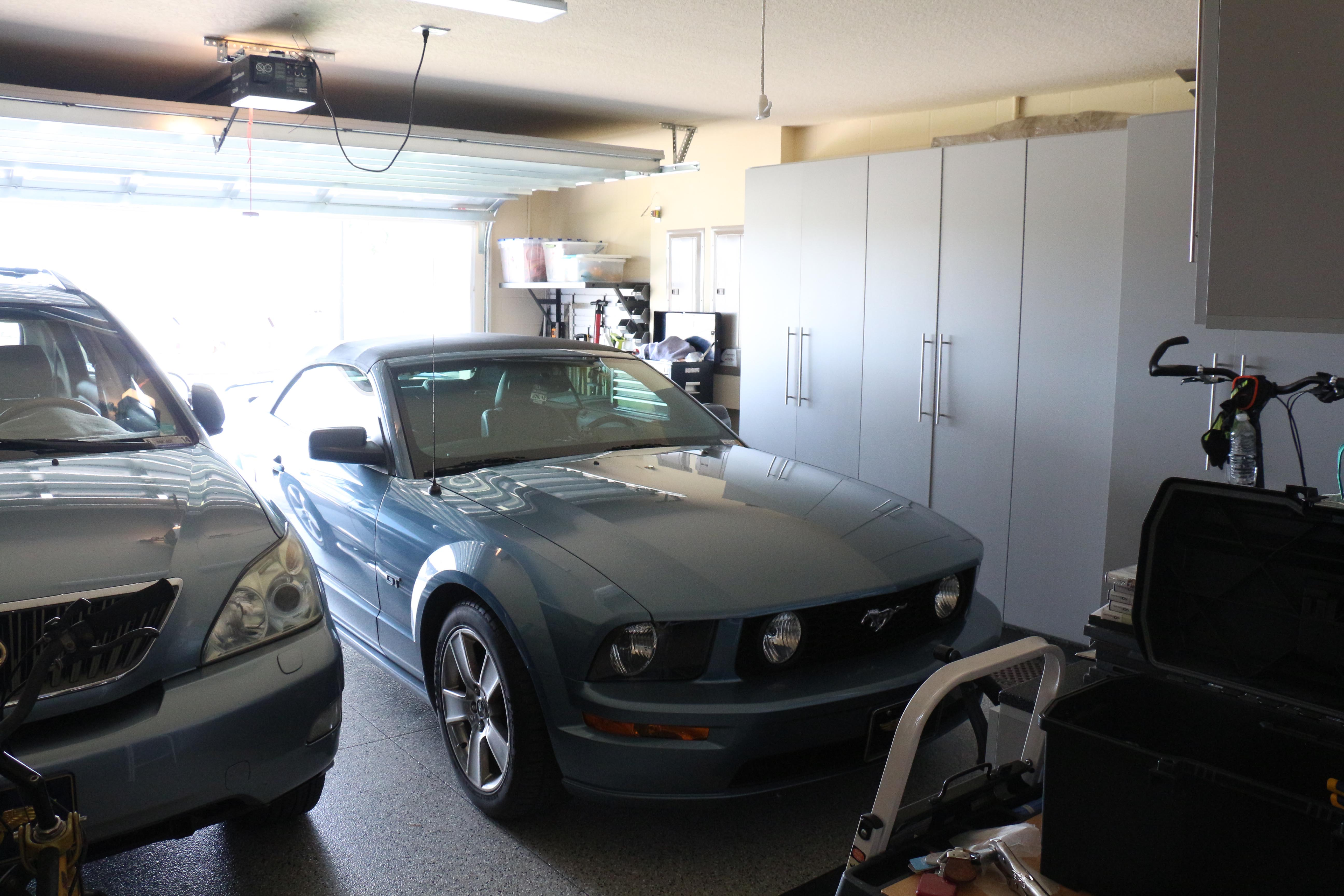 Garage Inside With Car